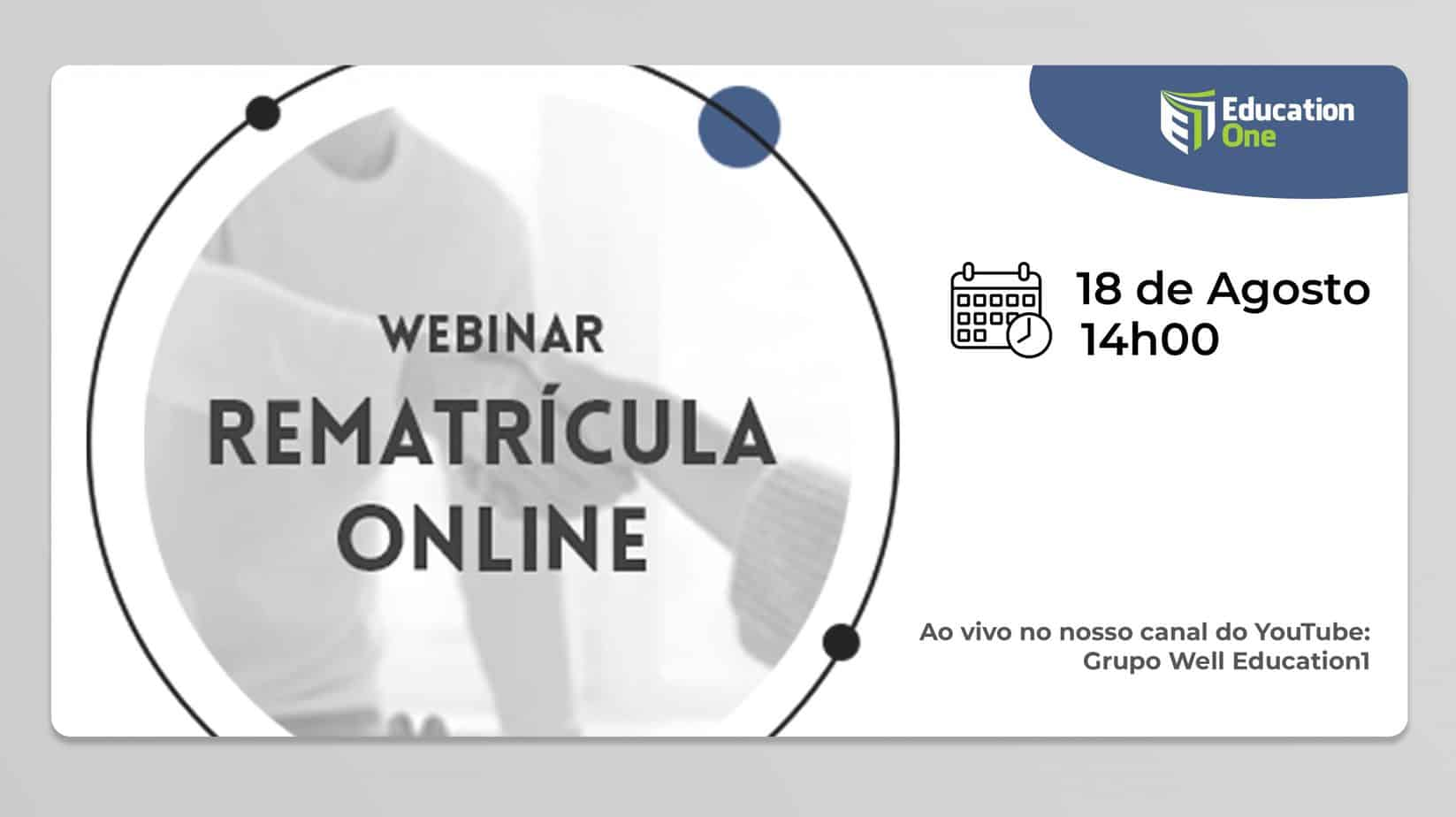 Webinar sobre rematrícula Online através do Education One