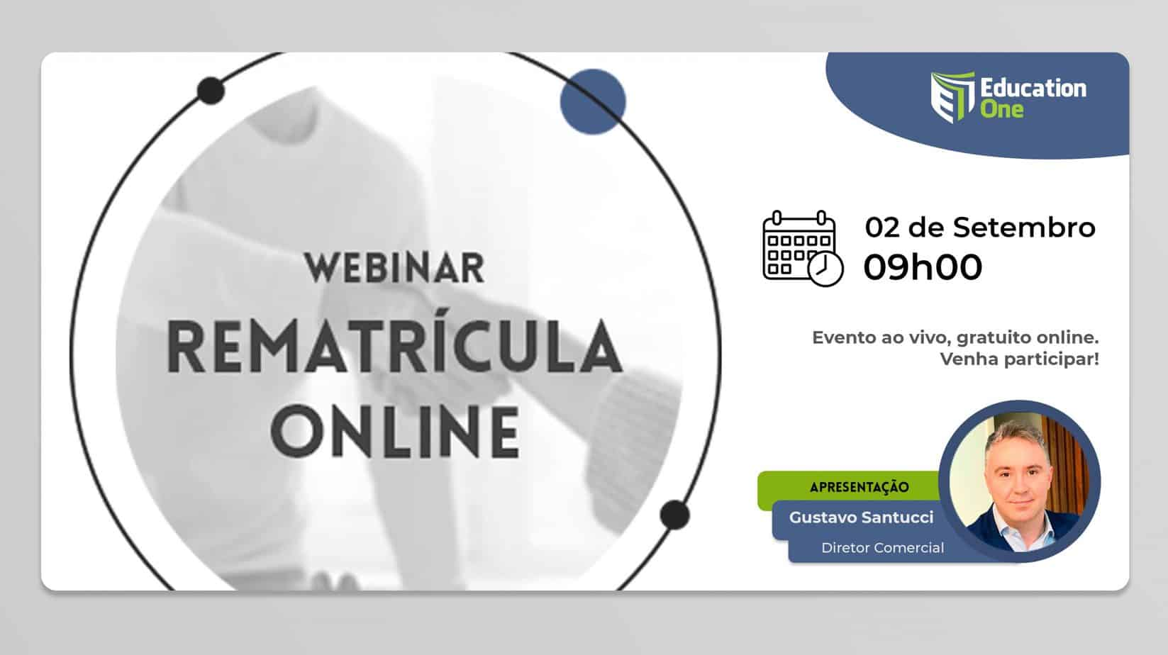 Webinar sobre rematrícula Online (Comercial) através do Education One